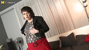 Chubby mature MOM fucking her boy in POV..