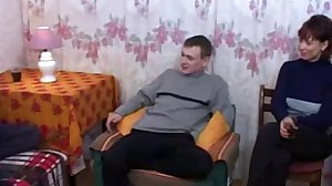 5 russian boys fuck a naughty mature