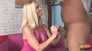Mature mom fucks young black not her son