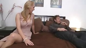 Busty Mom With Young Boy in Bedroom