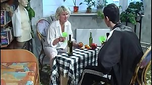 Boy and Russian mom fuck at home