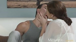 MOM Younger boy fucks older housewife in..