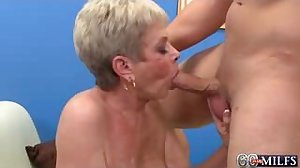 Granny likes fucks with young boys