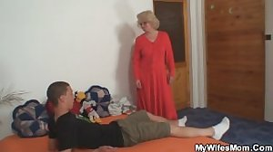 Angry mother in law fucks him
