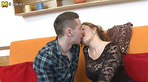 Sweet MOM suck and fuck young not her son